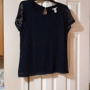 Banana republic navy blue blouse